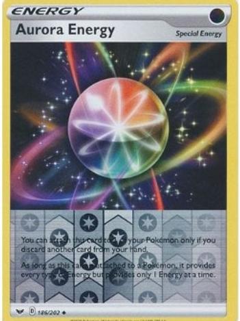 Aurora Energy 186/202 - Rev Holo - Sword & Shield - Pokemon