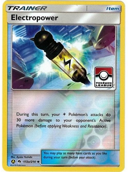 POKEMON SM Lost Thunder 172A/214 Electropower (Alt Art League Promo)