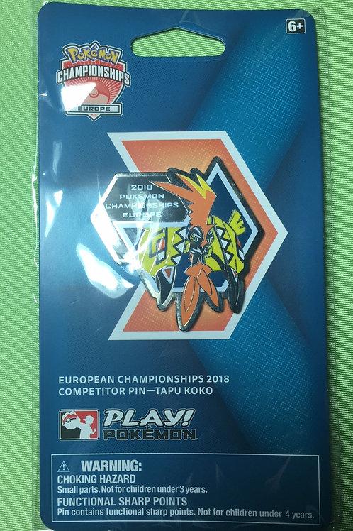 Pokemon London European International Championships Tapu Koko Competitor Pin