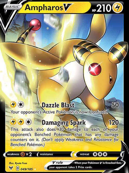 Ampharos V - 049/185 - SWSH Vivid Voltage - Pokemon
