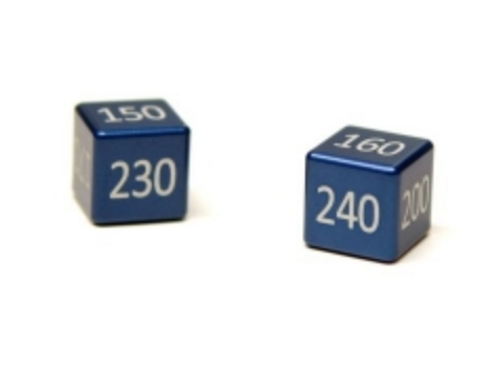 TCEVOLUTIONS Dice - Water Blue - Aluminium Damage Counters -Set of 2