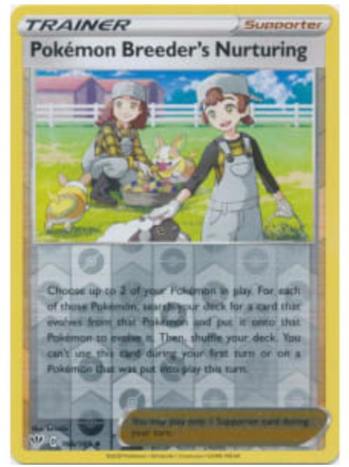 POKEMON DARKNESS ABLAZE #166 Pokemon Breeder's Nurturing (rev holo)