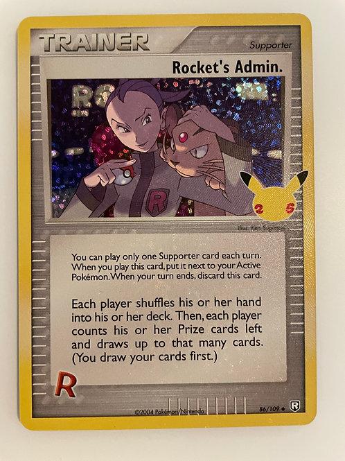 Rocket's Admin. 86/109  - Pokemon Celebrations - TCG