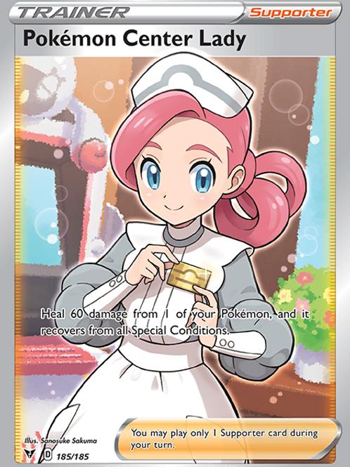 Pokemon Center Lady (Full Art) - 185/185 - Vivid Voltage