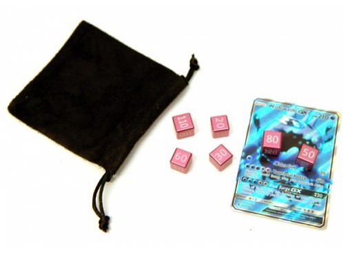 ALUMINIUM DAMAGE COUNTERS SET (6 PCS) FAIRY PINK