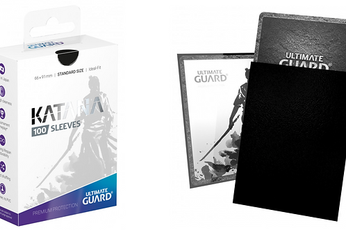 Ultimate Guard Sleeves: Katana - Black (100)