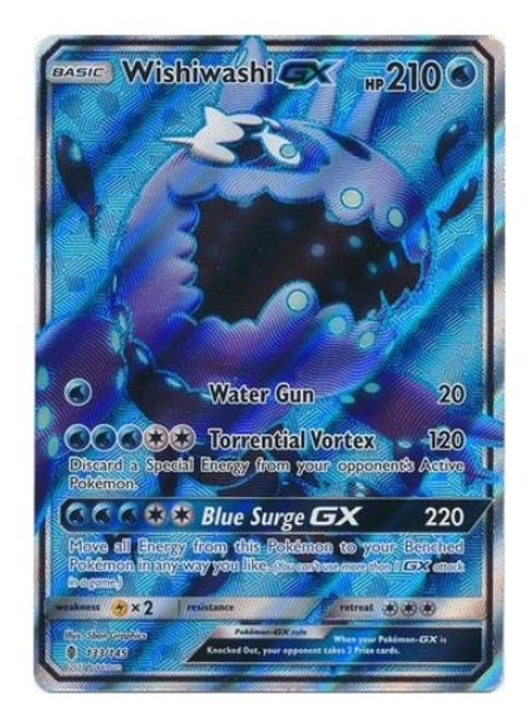 POKEMON SM Guardians Rising 133/145 Wishiwashi GX (Full Art)