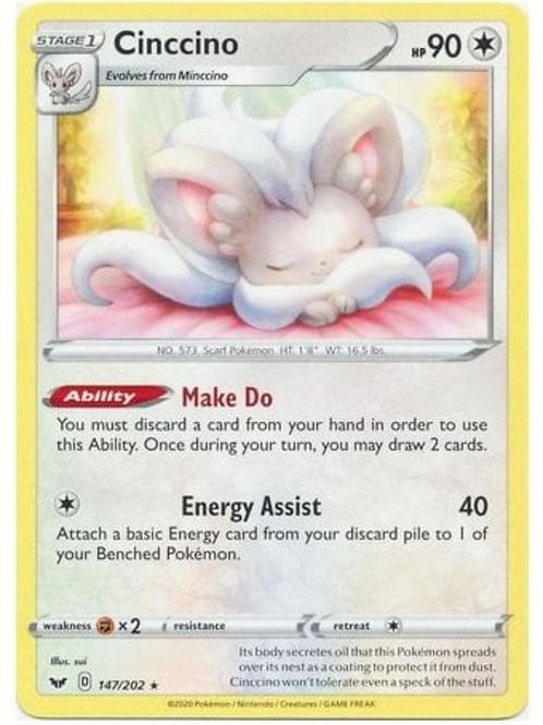 Cinccino 147/202 - Sword & Shield Base Set - Pokemon