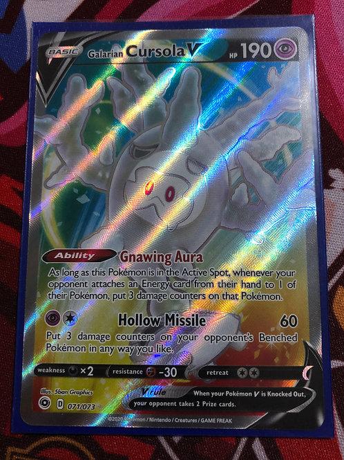 Galarian Cursola V 071/073 - Full Art - SWSH Champions Path - Pokemon