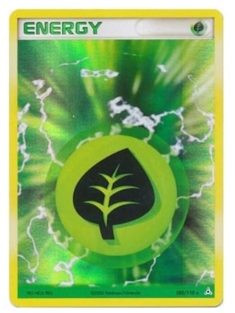 POKEMON EX Holon Phantoms 105/110 Grass Energy (Holo)