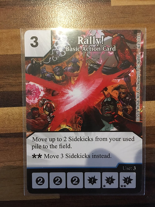 Dice Masters Rally! - Basic Action Card - AvX4/13