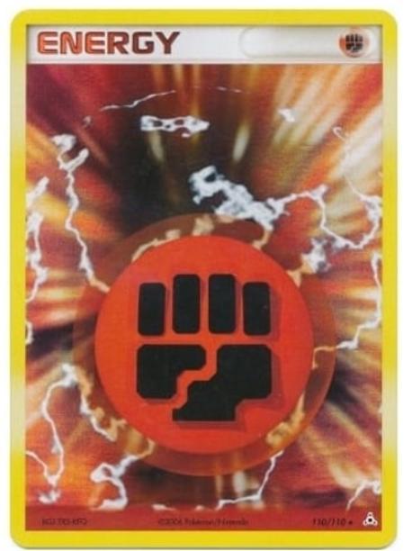 POKEMON EX Holon Phantoms 110/110 Fighting Energy (Holo)