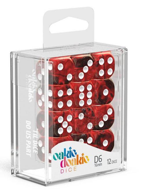 Oakie Doakie Dice D6 Dice 16 mm Gemidice - Vampire (12)