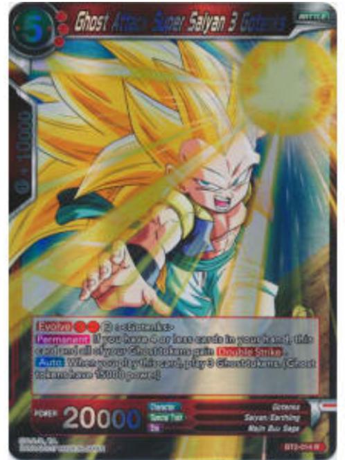 Ghost Attack Super Saiyan 3 Gotenks (Foil) - BT2-014  - Dragon Ball Super TCG
