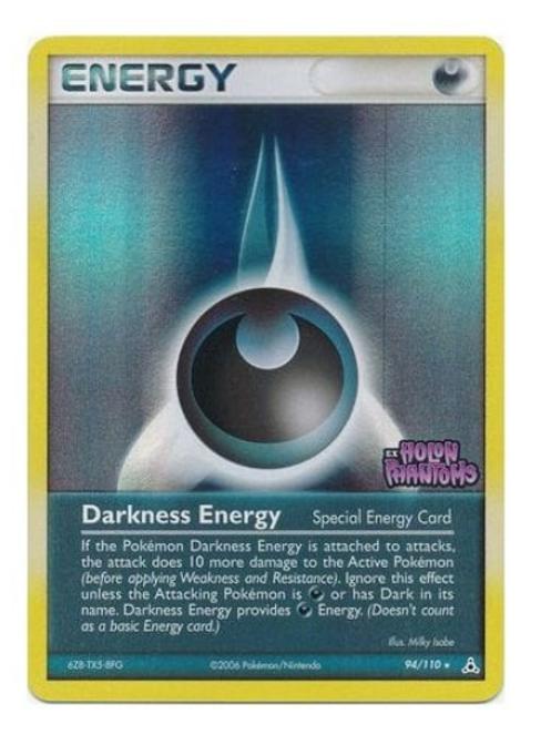 POKEMON EX Holon Phantoms 094/110 Darkness Energy (Reverse Holo)
