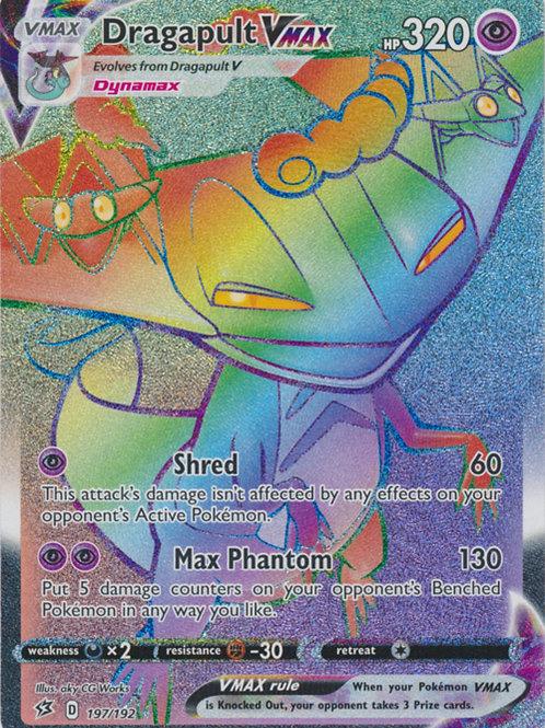 Pokemon SWSH Rebel Clash 197/192  Dragapult VMAX (Hyper Rare)