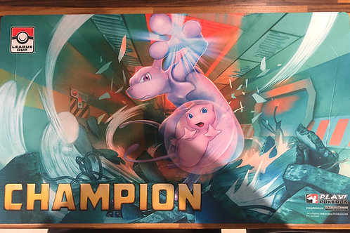 Mew & MewTwo CHAMPION Playmat - Pokemon League Cup Winners Mat