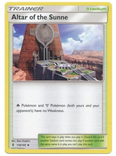 POKEMON SM Guardians Rising 118/145 Altar of the Sunne