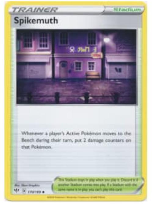 Spikemuth 170/189 - SWSH Darkness Ablaze - Pokemon