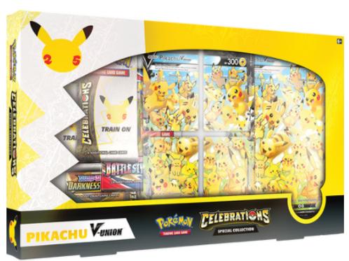 Pokemon Celebrations Special Collection Pikachu V- Union (25th Anniv)