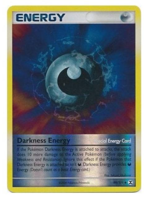 POKEMON Platinum Rising Rivals 099/111 Darkness Energy (Reverse Holo)