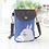 Thumbnail: Totoro Mini Canvas Shoulder  Pouch / Bag (Dark Blue)