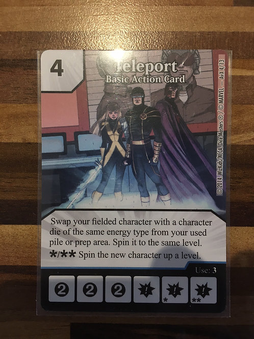 Dice Masters Teleport - Basic Action Card - AvX4/13