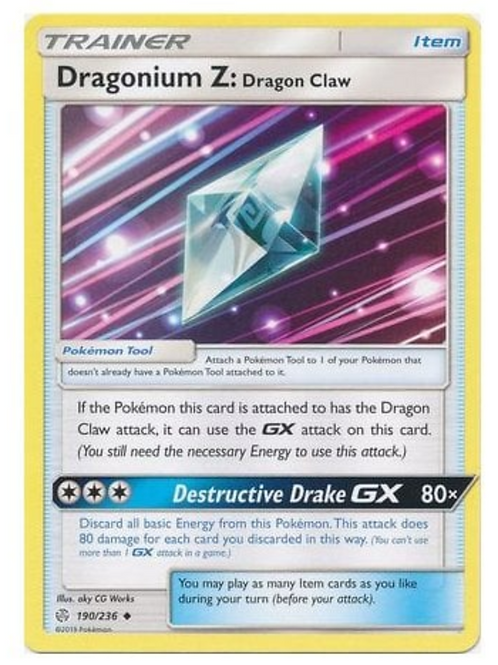 POKEMON SM COSMIC ECLIPSE 190/236 DRAGONIUM Z