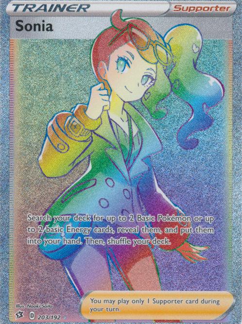 Pokemon SWSH Rebel Clash 203/192  Sonia  (Hyper Rare)