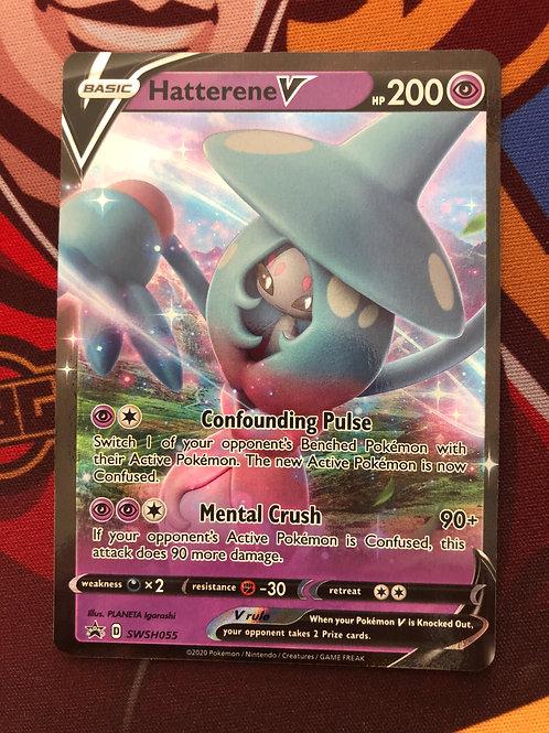 Hatterene V + code card SWSH055 - Champions Path Promo - Pokemon