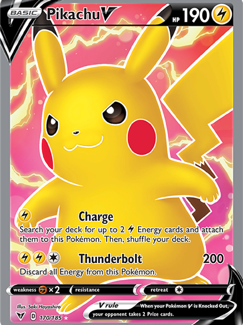 Pikachu V (Full Art) - 170/185 - Vivid Voltage
