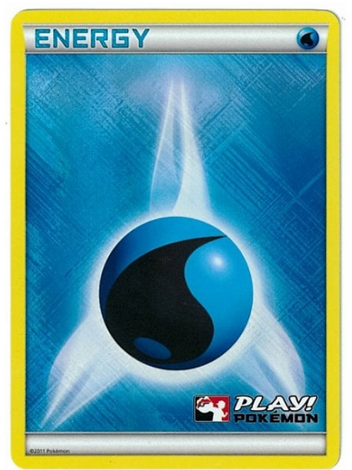 POKEMON League Promo XY Water Energy Play! Pokemon Stamp