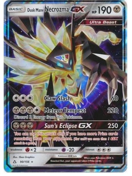 POKEMON SM Ultra Prism 090/156 Dusk Mane Necrozma GX (Half Art)