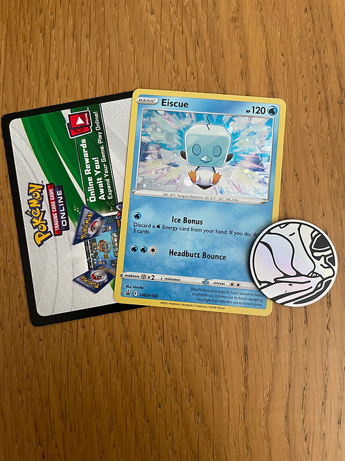 EISCUE SWSH128  -  PROMO, CODE CARD and COIN - POKEMON TCG  EVOLVING SKIES