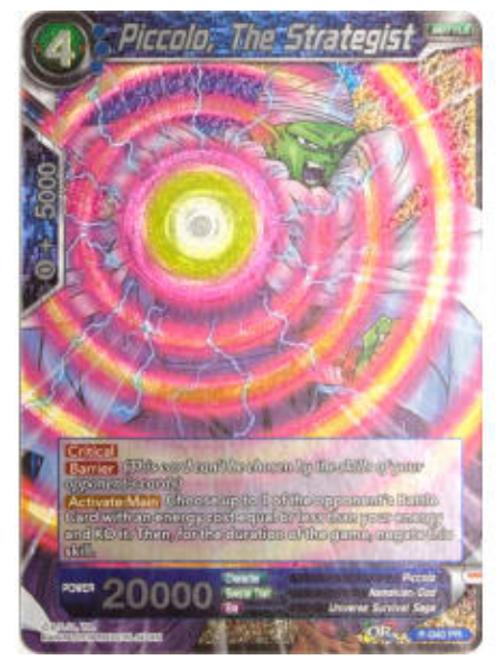 Piccolo, The Strategist (Foil) - P-040  - Dragon Ball Super TCG