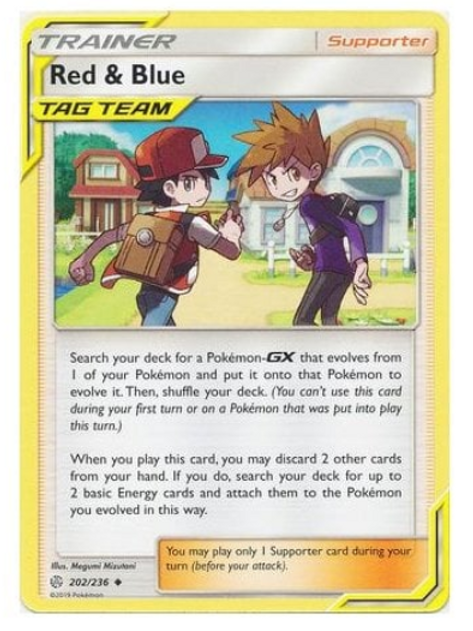 POKEMON COSMIC ECLIPSE 202/236 RED & BLUE ( Tag Team Common)