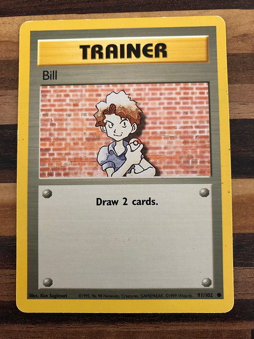 POKEMON BASE SET 091/102 BILL