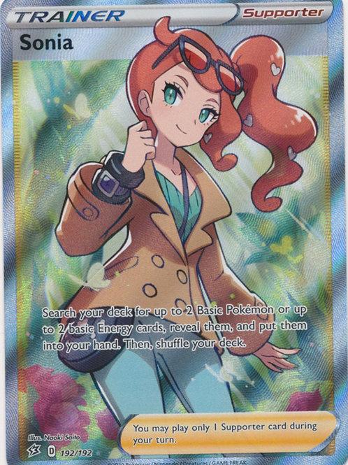 Pokemon SWSH Rebel Clash 192/192  Sonia (Full Art)