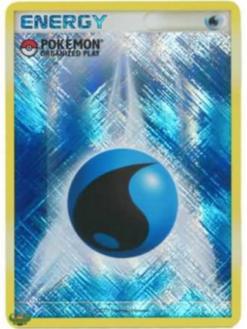 Pokemon Organized Play Holo Water Energy