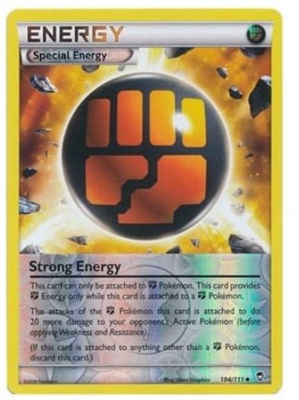 POKEMON XY Furious Fists 104/111 Strong Energy (Reverse Holo)