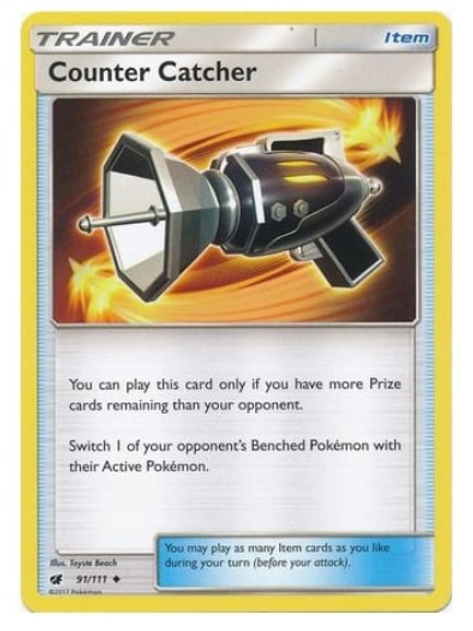 POKEMON SM Crimson Invasion 091/111 Counter Catcher