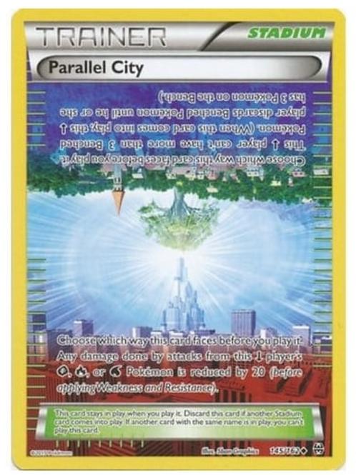 POKEMON XY BREAK THROUGH 145/162 PARALLEL CITY