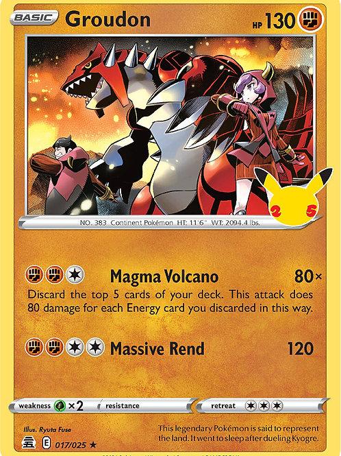 Groudon 017/025 - Pokemon Celebrations - TCG