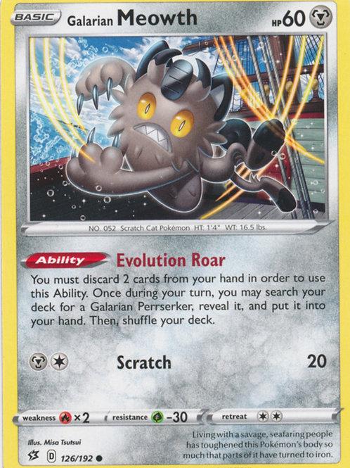 Pokemon SWSH Rebel Clash 126/192 Galarian Meowth