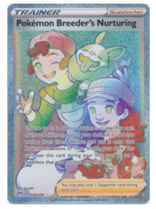 POKEMON DARKNESS ABLAZE #195 Pokemon Breeder's Nurturing  (Hyper Rare)