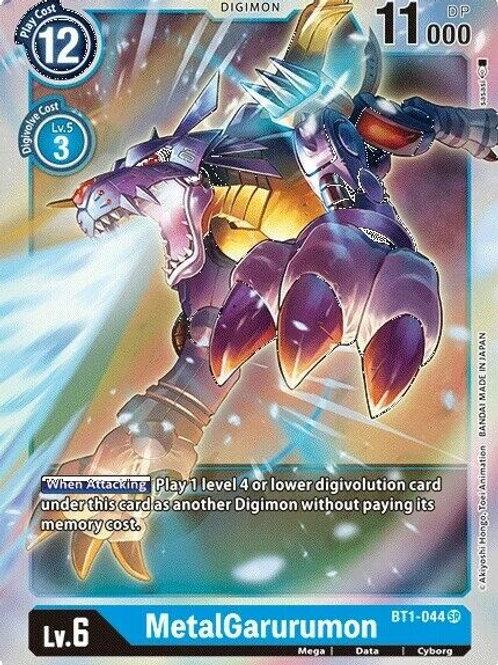 MetalGarurumon BT1-044 : Digimon TCG Set 1.0