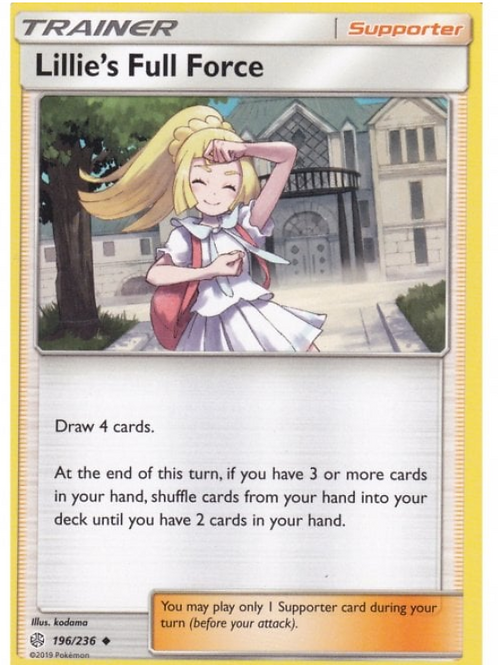 POKEMON COSMIC ECLIPSE 196/236 LILLIE'S FULL FORCE (none Holo)