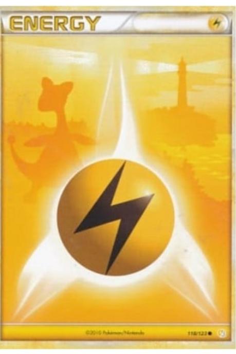 POKEMON Heart Gold & Soul Silver 118/123 Lightning Energy