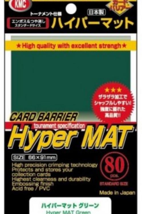 KMC HYPER MAT GREEN SLEEVES(80)