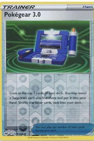 Pokegear 3.0 174/202 - Rev Holo - Sword and Shield Base Set - Pokemon